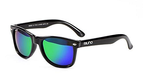 Miuno® Kinder Sonnenbrille Polarisiert Polarized Etui 6833 (Grünverspiegelt)