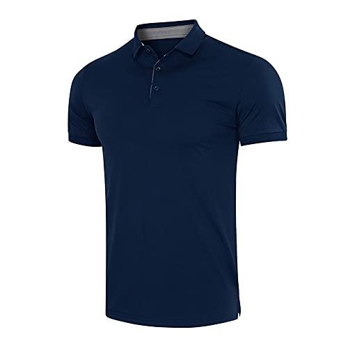 ZYUD Men Classic Polo Sweatshirts Golf Tennis Cool Polo Shirts Men's Polo Shirt Solid Color Short Sleeve Leisure Basic Polo Shirt Men's T-Shirt Short Sleeve V-Neck Summer Shirt Lapel Tops Shirt