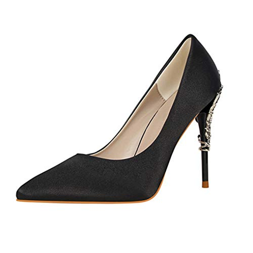 Womens Stiletto High Heel Pumps wies Closed Toe Classic Slip auf Hochzeit Kleid Pumps