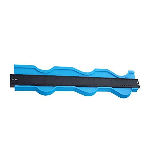 IUwnHceE Contorno de Perfil de Calibre duplicador de 20 Pulgadas Medir la Plantilla Regla Formas Irregulares para la baldosa Instrumento de la Madera Azul Industrial