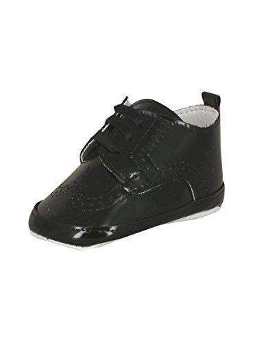 Zapatos de bebé para ceremonias, bodas, bautizos, Negro (Negro ), 17 EU