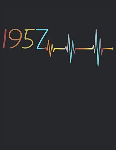 Herzschlag 64. Geburtstag 64 Jahre Geboren 1957 Heartbeat Frequenz: RÄTSELBUCH - Lustiges Retro Geburtstags Geschenk, Geschenkidee - A4 (8,5x11) - 101 ... Sketch, Planer, Geburtstag, Jahrgang, Spruch