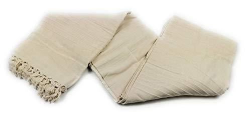 Aga's Own Indische Tagesdecke XXL Sofaüberwurf Bettüberwurf Wohndecke Indien/India Baumwolle Decke 220x250 cm VIELE Varianten (Beige)