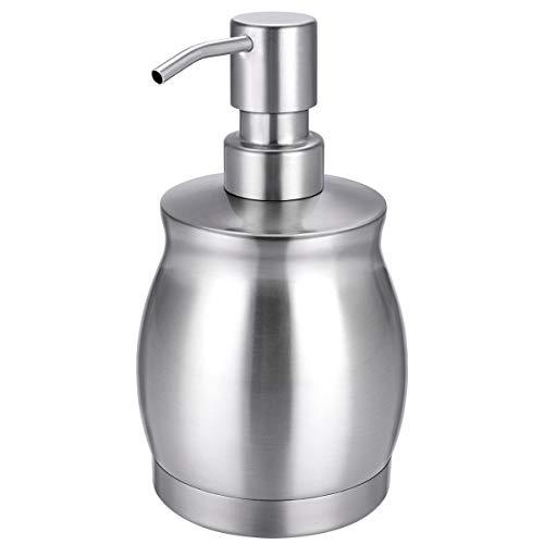 Dispensador de jabón de acero inoxidable Carriter Prime 390 ml botella líquida para cocina y baño loción para platos de manos
