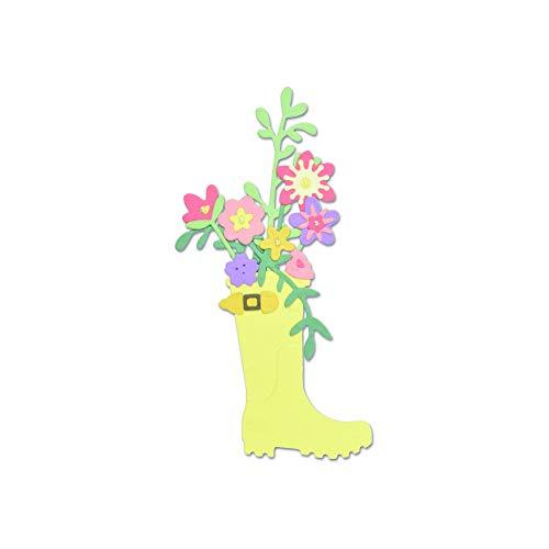 Thinlits Stanzschablonen 17 Stk - Gummistiefel Pflanzengefäß von Olivia Rose