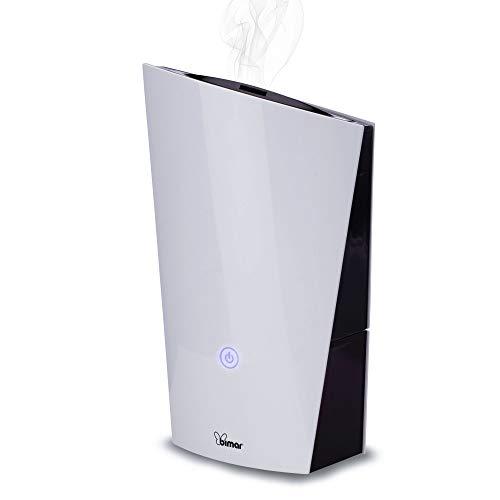 Bimar Humidificador Ultrasonido de Habitación 1,3L UM5, Silencioso, Vaporizador de Niebla, Purificador de Aire con 2 Modos de Vapor, Automático, para Niño, Refrescante, Hogar y Oficina, Difusor
