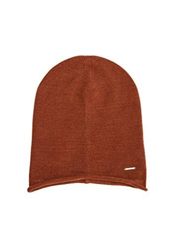 s.Oliver Damen Mütze aus Feinstrick Brown 1