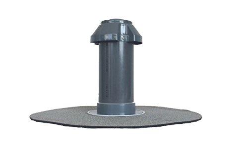 Flachdachlüfter DN 100, Bitumen-Flansch rund, Lüfter, Abluft, Dachentlüftung, DN 110
