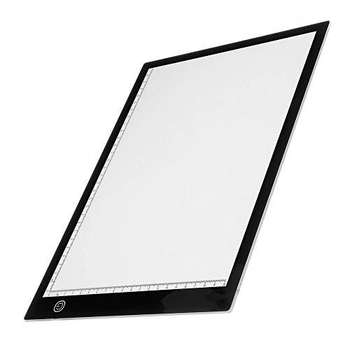 Tablero De Dibujo Portátil A3 A4 A5 Caja De Luz LED Trazado Tablero De Dibujo Arte Dise?o Pad Slim Lightbox Para Artistas Dibujar Bocetos (Size:A5; Color:White)