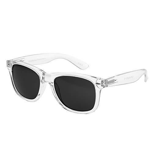 Ultra Volwassenen Clear Frame Klassieke Retro Zonnebril UV400 bescherming Mens Womens