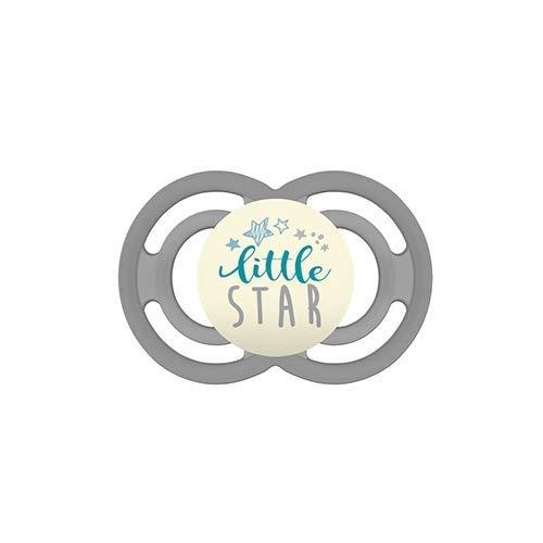 MAM Chupete Perfect Night S144 - con Tetina extra fina y flexible de Silicona SkinSoftTM ultrasuave, para Bebés de 6+ meses, brilla en la oscuridad, Neutro (1 unidad) con caja auto Esterilizable