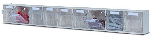 Preisvergleich Produktbild hünersdorff Klarsichtbehälter / Aufbewahrungsbox / Riegel für ein optimales MultiStore-Lagersystem im Baukastenprinzip aus hochschlagfestem Kunststoff (PS),  Nr. 9