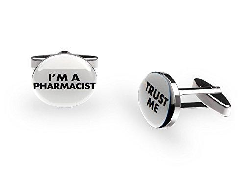 Cuffs 'N' Collars PHARMACIEN Boutons de manchette ('Trust Me' Job Boutons de manchette avec boîte cadeau)