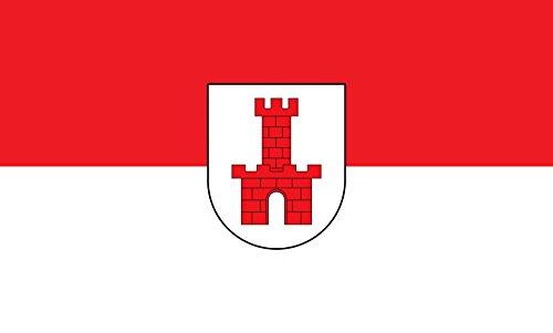 Unbekannt magFlags Tisch-Fahne/Tisch-Flagge: Maulburg 15x25cm inkl. Tisch-Ständer