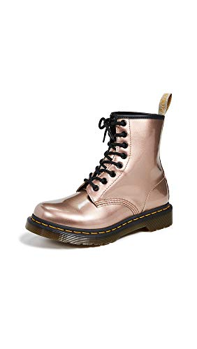 Dr. Martens Women's 1460 Vegan Lace Up Chrome Boot Rose Gold-Rose Gold-5 Size 5