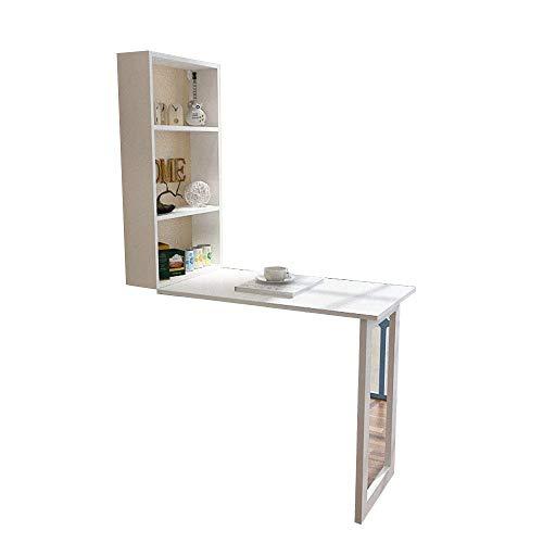 LWW Tabellen, Heim- Schreibtische Compact Wand Integrierte Büro Computer-Arbeitsplatz Tabelle -105X50X75Cm
