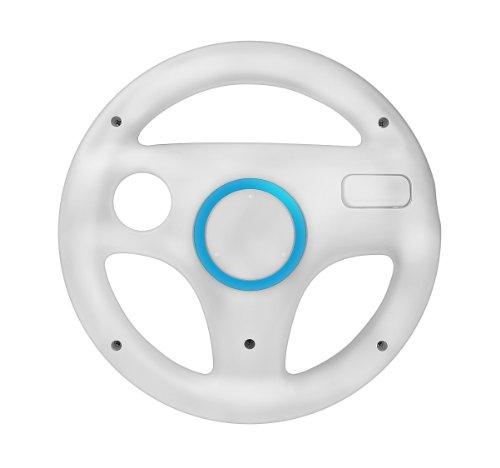mejores Volantes para Wii Volante de carreras para Nintendo Wii blanco color