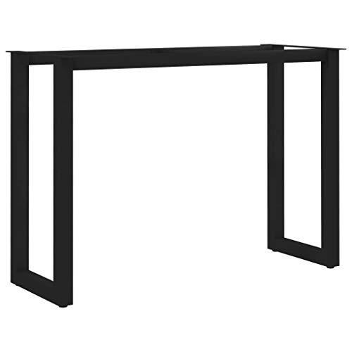 vidaXL Esstisch Beine O-Rahmen Tischbeine Tischgestell Tischkufen Tischuntergestell Tischfuß Tischkufe Tischbein Untergestell 100x40x72cm