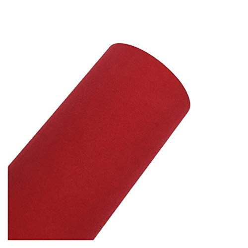 Carbon Folie 30 * 152cm Suede Fabric Material Auto Verpackung Aufkleber Selbstklebefolie, verwendet for Auto Innen- / Außen Car Styling Folie Auto (Color Name : Red)