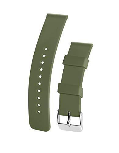 United Watchbands - Correa de reloj de silicona (liberación rápida, superficie de goma suave con textura antideslizante, resistente al agua y lavable, varios colores y tamaños)