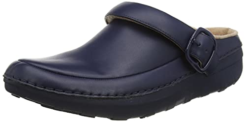 Fitflop Gogh Pro Clog Leather, Obstruccin Mujer, Azul Marino, 39 EU