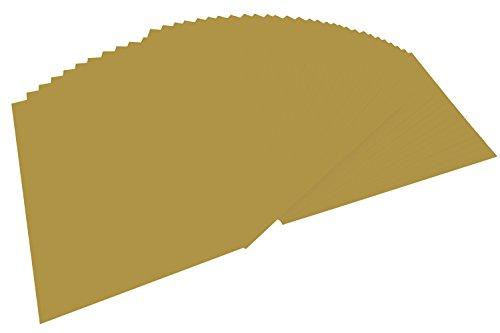 folia 614/50 65 - Fotokarton DIN A4, 300 g/qm, 50 Blatt, gold matt - zum Basteln und kreativen Gestalten von Karten, Fensterbildern und für Scrapbooking