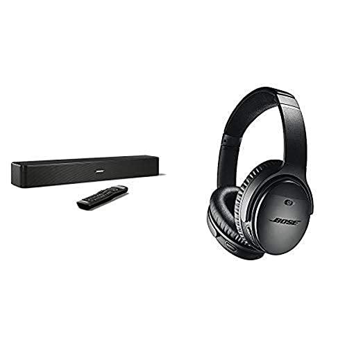 Bose ® Solo 5 TV Sound System schwarz & QuietComfort 35 Wireless Kopfhörer II (mit Amazon Alexa), schwarz