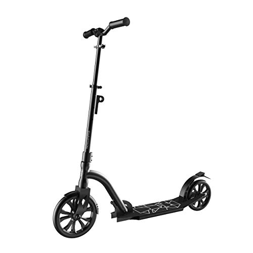 Swagtron K9 Commuter Kick Scooter for Adults, Teens | Foldable, Lightweight | Height-Adjustable for Riders up to 6'5', 220LB Max Load