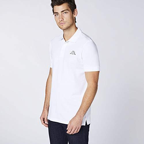 Kappa PELEOT Poloshirt voor heren, poloshirt met logoprint en kentkraag, basic poloshirts voor heren, korte mouwen, poloshirt voor sport, vrije tijd en kantoor, regular fit
