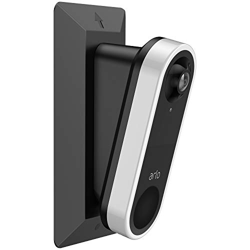 Aobelieve Wall Plate with 15 Degree Wedge for Arlo Video Doorbell, Black