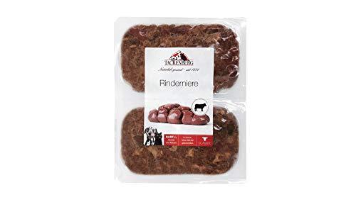 Tackenberg Barf Hundefutter (Rinderniere - fein geschnitten), Barffutter, Barffleisch für Hunde