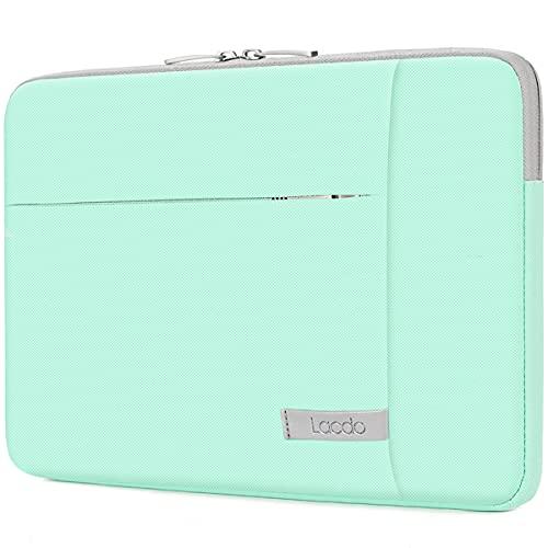 Lacdo 11 Pollici Borsa Protettiva Custodia per 11.6 Pollici Samsung Lenovo ASUS dell Chromebook, 12.3  Microsoft Surface PRO X 7 6, 11  MacBook Air Impermeabile Antiurto Portatile Sleeve,Verde