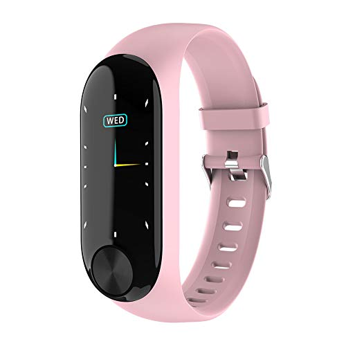 NANAD Fitness Tracker, Hartslag Fitness Polsband Smart Horloge Waterdichte IP67 Activiteit Tracker Bloeddruk Smart Armband met Stopwatch Sport GPS Stappenteller Stap Calorie Counter App Share(Pink)
