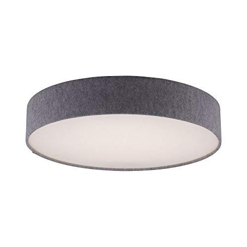 LED Deckenleuchte mit Stoffschirm, Schwarz, IP 20, Ø58cm, dimmbar mit Fernbedienung, Decken- Lampe,...