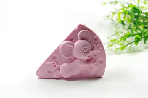 Forme de gâteau Moule À La Souris Artisanat Art Silicone 3D Moule À Savon Artisanat Moules DIY Main Bougie Moules