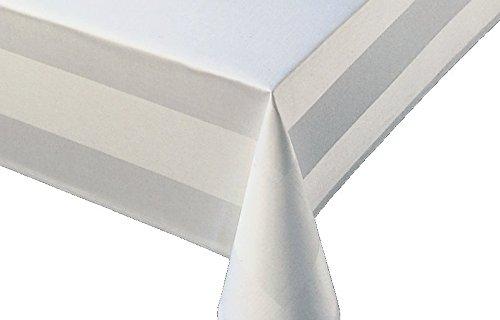 Hotel tafelkleden volledig getwijnd damast wit 130x170 cm