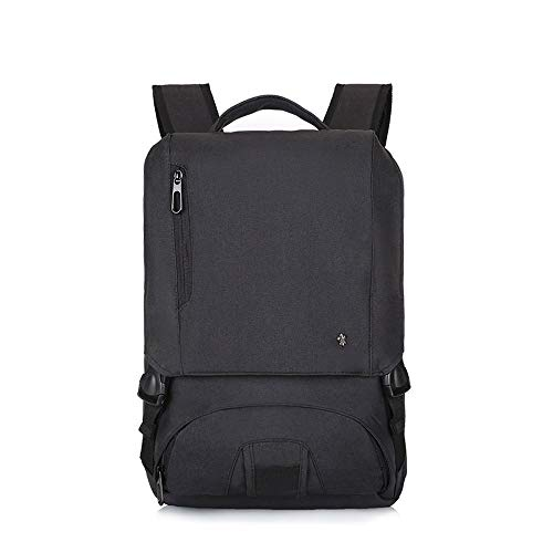 CLCCYYSJD Anti Theft Business Backpack,Travel Laptop Backpack for Men Women,Water Resistant School College Bag,Fits 15.6 Inch Laptop and Notebook (Color : Black)
