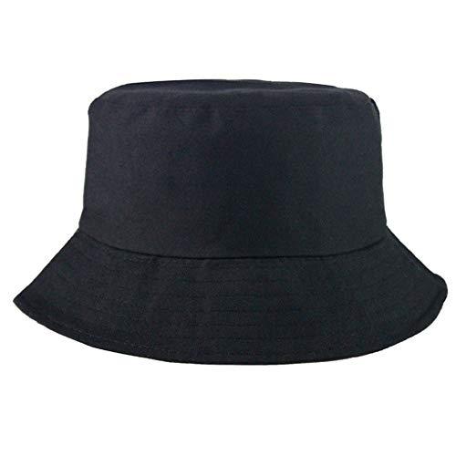 Generies Bucket Hat,Fischerhüte 56-58cm Baumwolle, Unisex Faltbar Anglerhut zum Jagen Wandern Camping Reisen Angeln (Schwarz)