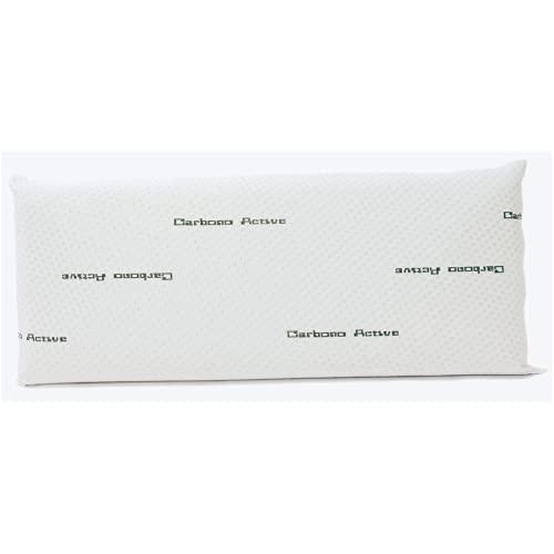 OkColchones - Almohada Viscoelástica Carbono - Diseño Ergonómico - Transpirable - Tejido Stretch (75)