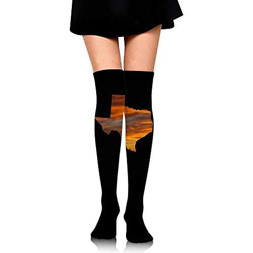 Jesse Tobias Der Stiefel-Schenkel-hohe Socken Texas Sunset Womens über dem kniehohen Strumpf