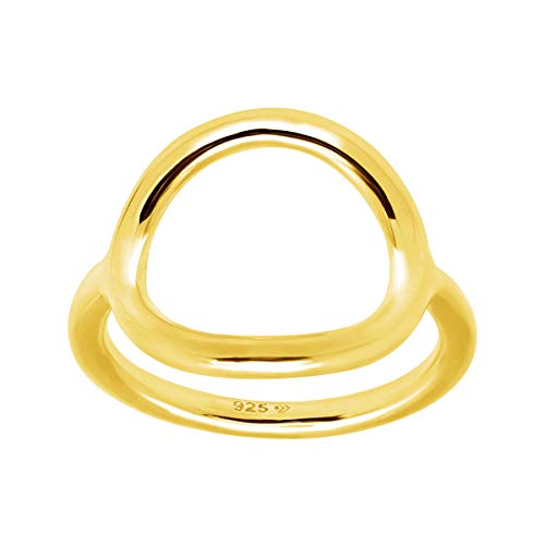 Silpada 'Karma' Open Circle Ring in 18K Gold-Plated Sterling Silver, Size 7