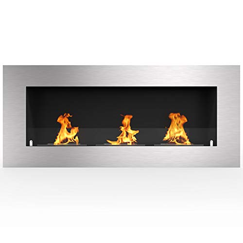 Buy Bargain Regal Flame Warren 50 PRO Ventless Built in Recessed Bio Ethanol Wall Mounted Fireplace
