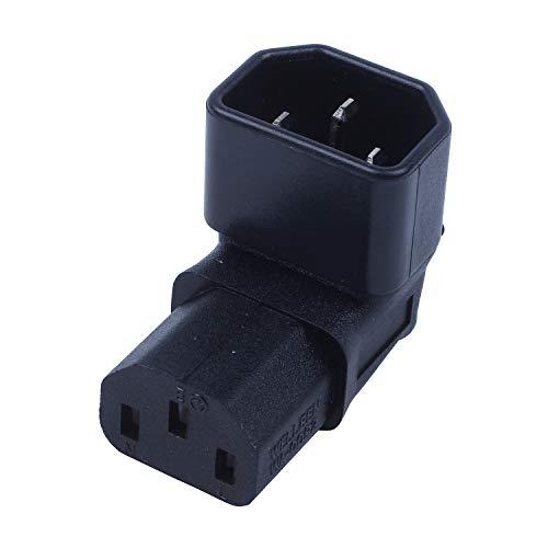 ACAMPTAR Adaptador IEC en áNgulo Recto, IEC 320 C14 una C13 en...