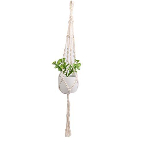 Monbedos Makrame bloempot planten om op te hangen plantenhanger voor binnen buiten plafond balkon (geen bloempot) B 105CM