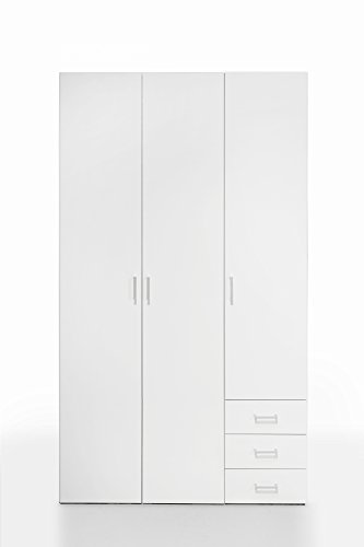 Tvilum Space 3 Drawer and and 3 Door Wardrobe, White