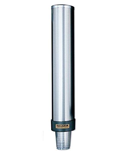 C3500P Edelstahl Becherspender von San Jamar, Entnahme von unten für Becher mit einem Rand-Ø 101-124 mm, 32-46 oz