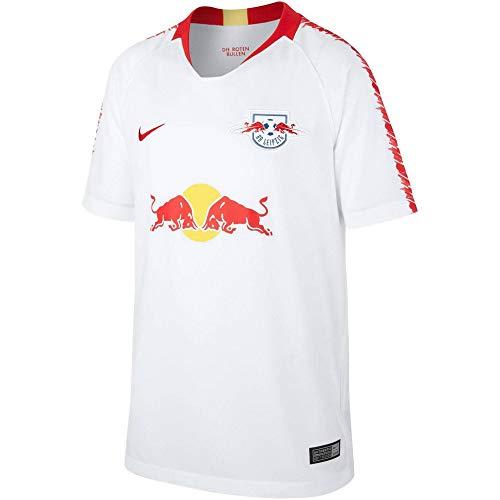 Nike Kinder RB Leipzig Breathe Stadium Heim T-Shirt, White/University Red, M