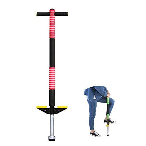 Wghz Pogo Stick, Jump Bounce Stick Outdoor Bodybuilding Kangaroo Jumping Shoes Gimnasio Ejercicio Deportivo hasta 30 kg, Interesante, para niños y niñas, Rojo