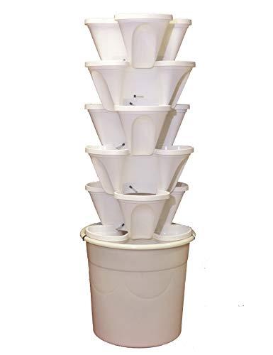 Ecogarden Irisana 72.EG11.B Mesa de Cultivo Vertical, Blanco, 34x34x120 cm