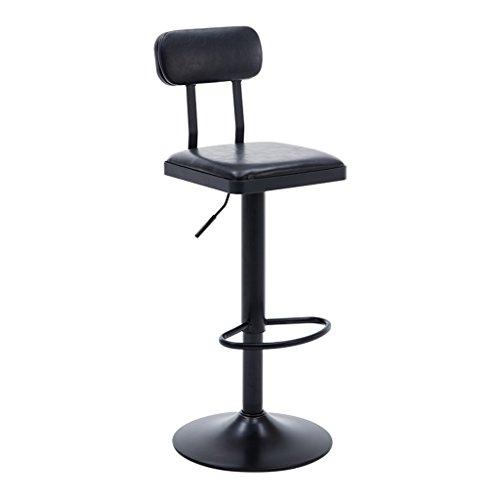 BAR STOOL Y hoge kruk, creatieve barkruk, eenvoudige casual eetbare stoel zithoogte 60 cm, ijzer, hout (meerkleurig)